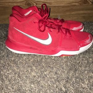Nike Shoes | Kyrie 3s Red Suede | Poshmark